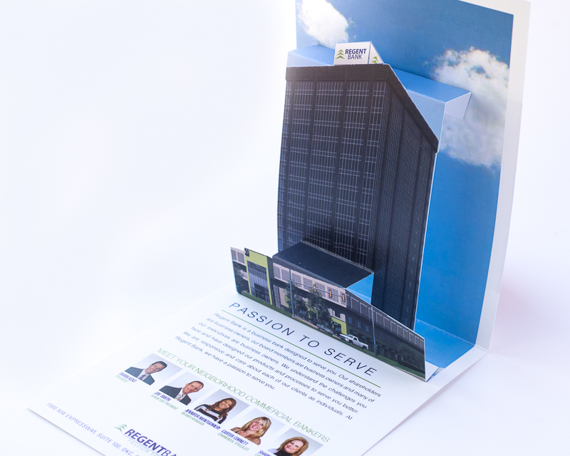 Large pop ups cards for Direct Mail
